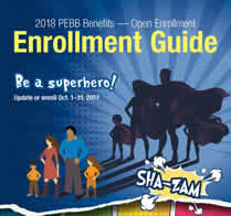 picture of the cover of the 2018 PEBB enrollment guide