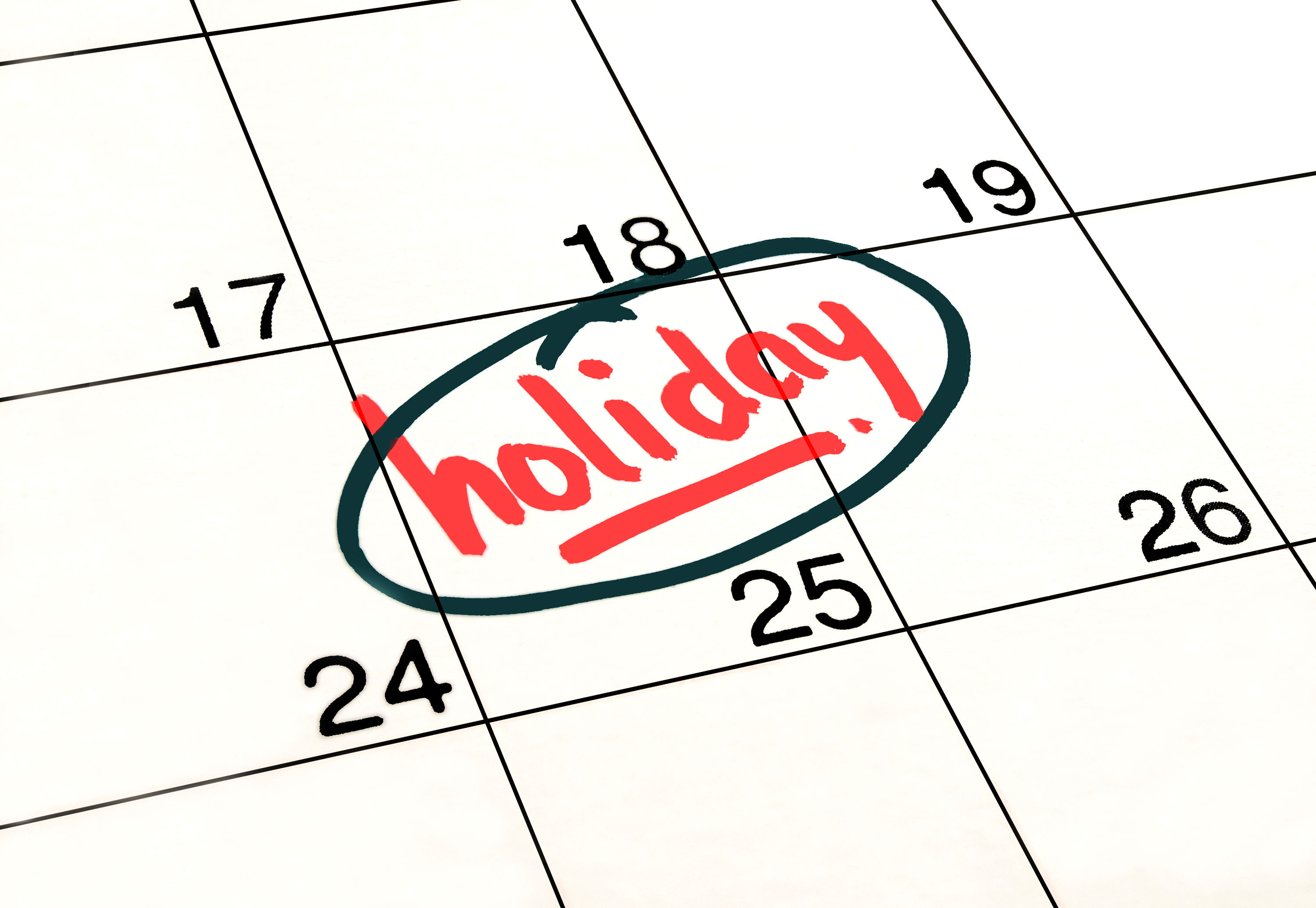 Christmas Holiday Closing Announcement.University Holiday Information Human Resources