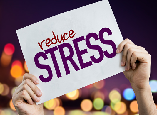 The words Reduce Stress