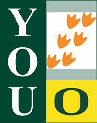Image with You and UO logo and orange duck feet