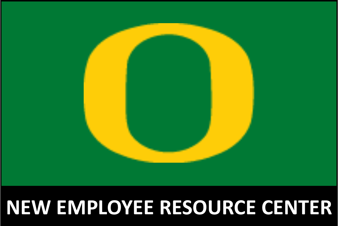 UO logo image with new employee resource center label