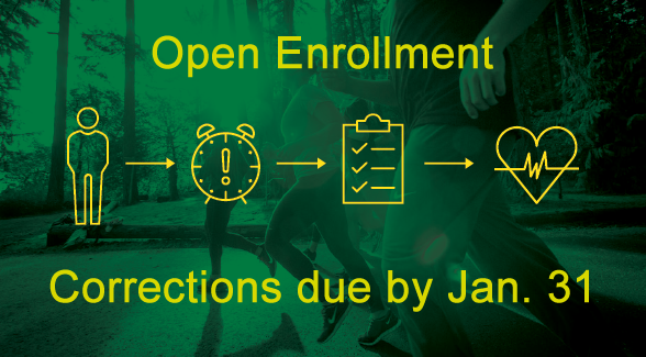 open enrollment correction due by January 31