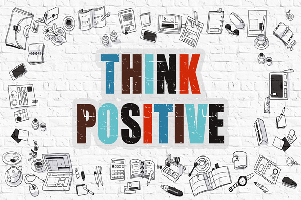 "words ""Think Positive"""